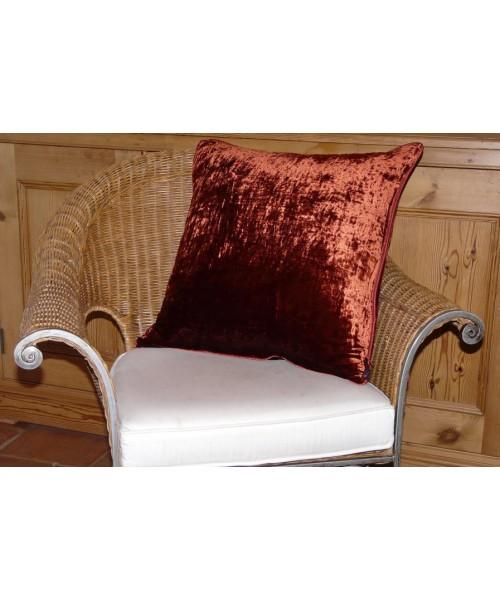 Cushion Silk Velvet Dark Berry