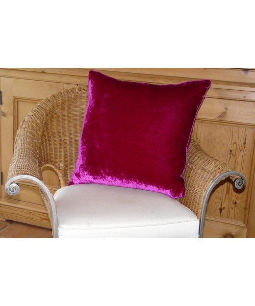 Cushion Silk Velvet New Fuchsia