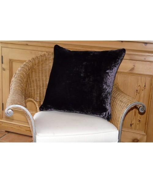 Cushion Silk Velvet Grape