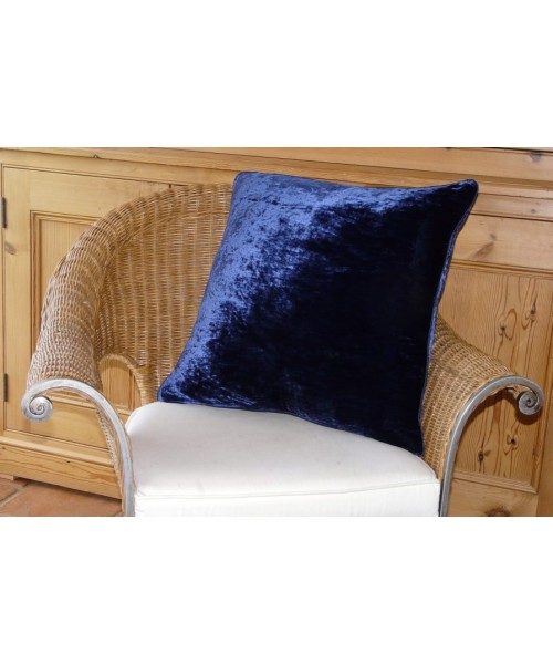 Cushion Silk Velvet Navy