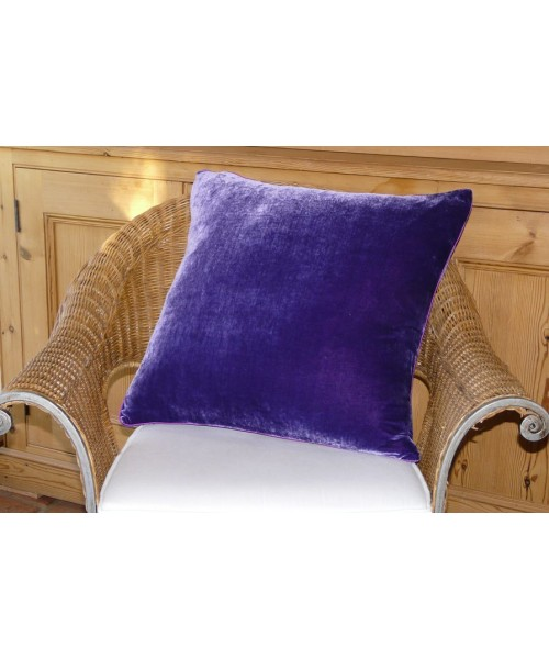 Cushion Silk Velvet Purple Pink