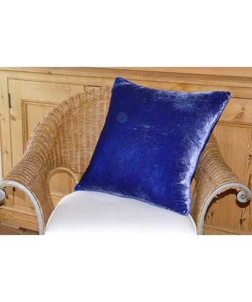 Cushion Silk Velvet Sapphire