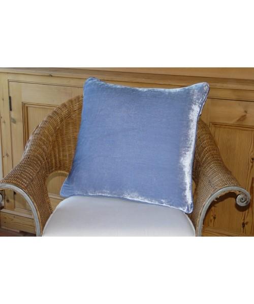 Cushion Silk Velvet Sky