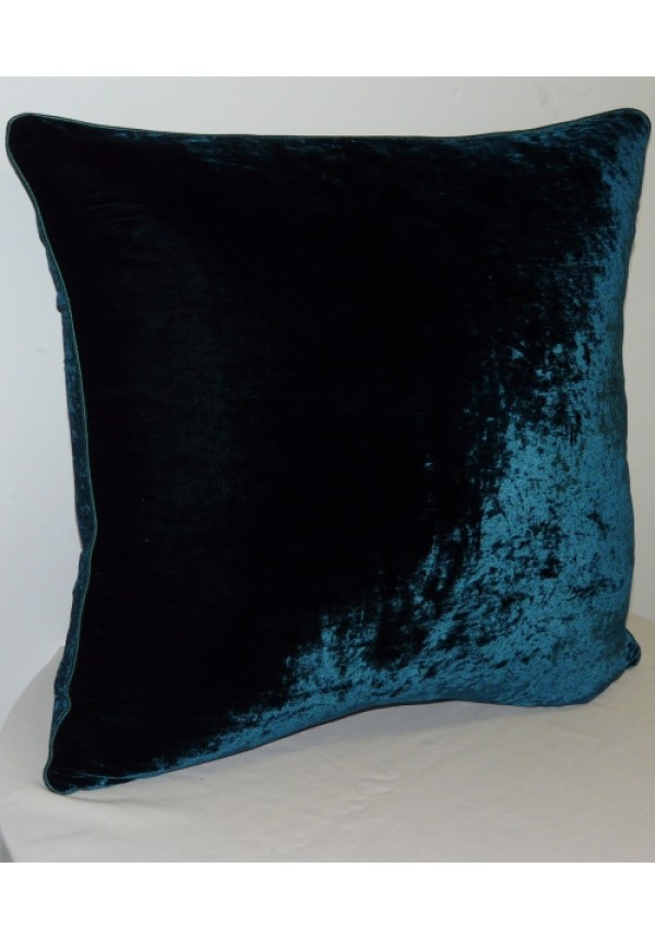 Rose Black Accessories Cushion Silk Velvet Teal