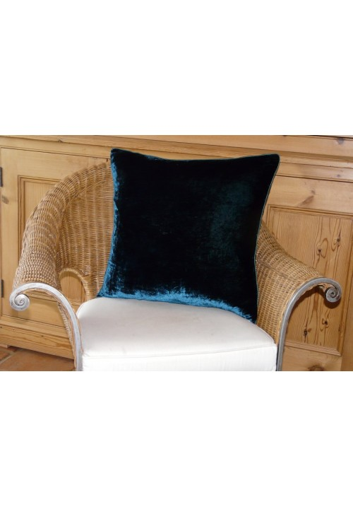 Cushion Silk Velvet Teal