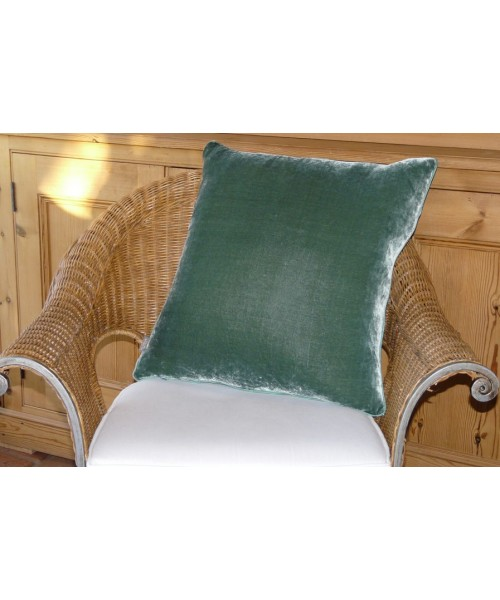 Cushion Silk Velvet Verdegris