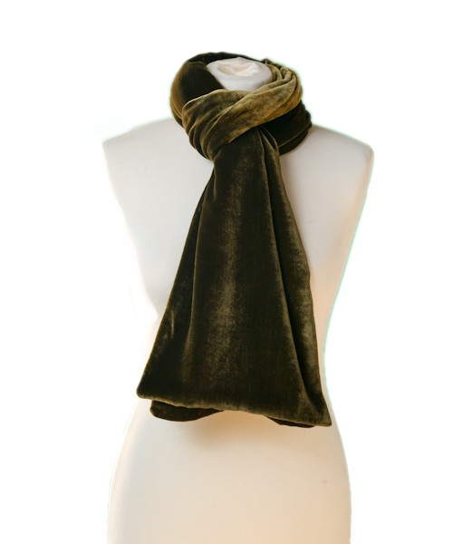 Classic Silk Velvet Scarf Copper