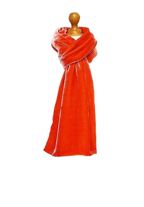 Classic Silk Velvet Scarf Jaffa