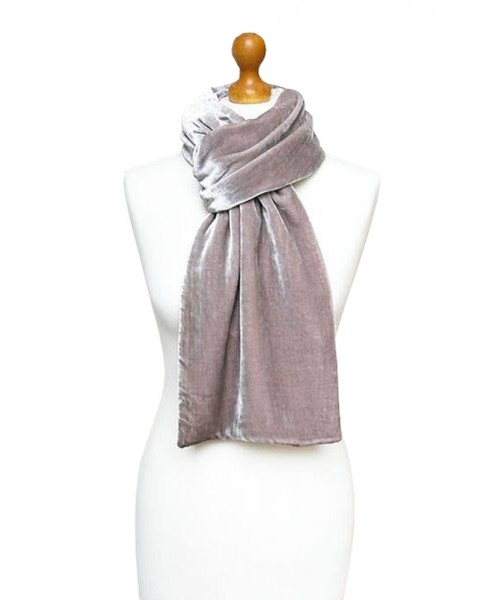 Classic Silk Velvet Scarf Old Rose
