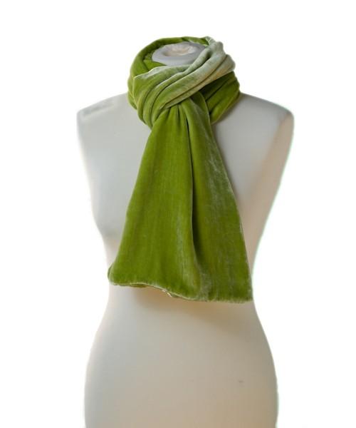 Classic Silk Velvet Scarf Pistachio