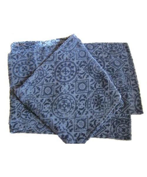 Devore Silk Velvet Scarf Slate