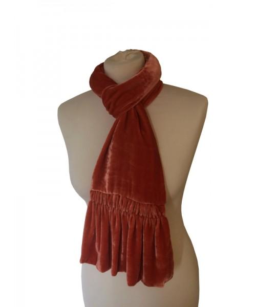 Frill Silk Velvet Scarf Jaffa