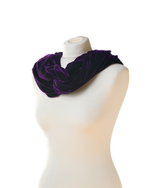 Snood Silk Velvet Purple