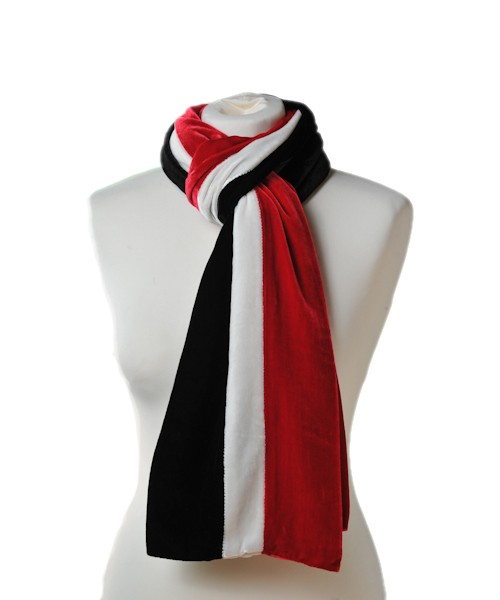 Classic Silk Velvet Scarf Striped